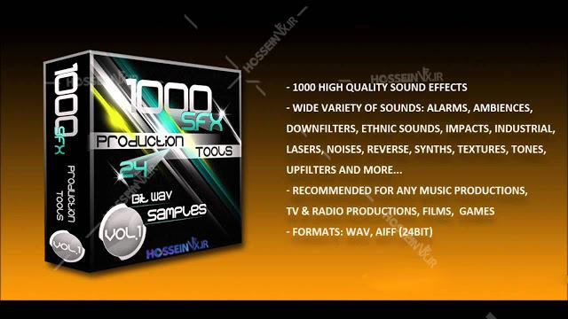 دانلود مجموعه 1000 جلوه های صوتی Lucid Samples 1000 SFX Production Tools